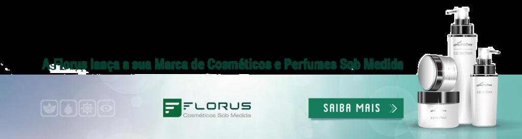 A Florus produz cosméticos e perfumes sob medida