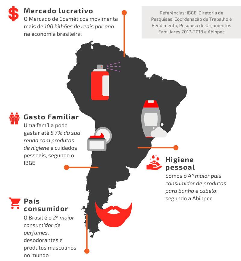 Infográfico porque investir no mercado de cosméticos